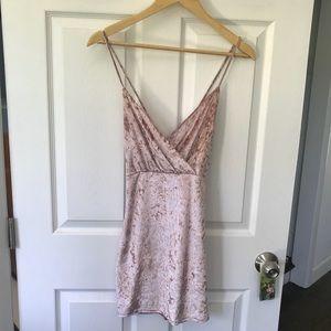 Dresses & Skirts - Crushed velvet mini dress